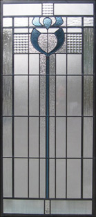 A leaded glass window
