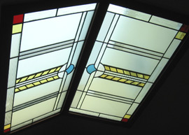 Leaded glass skylight